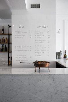 Bar Co restaurant by Joanna Laajisto Helsinki, interior design Menu Restaurant Design, Café Restaurant, Restaurant Branding, Chinese Restaurant, Helsinki, Bar A Vin, Café Bar, Bar Menu, Design Café