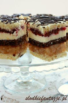 Delicja jabłkowa Polish Desserts, Polish Recipes, No Bake Desserts, Healthy Desserts, Delicious Desserts, Polish Food, Sweet Recipes, Cake Recipes, Dessert Recipes