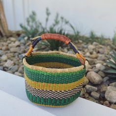 BOLGA BASKET - RED - LARGE – AFRICAN FABRICS AUSTRALIA Red Basket, Pearl Beach, Market Baskets, African Fabric, Hand Weaving, Artisan, Fabrics, Australia, Accessories