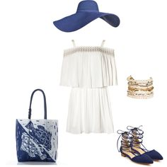 Boho outfit inspiration for the Wood Block Fish Print Tote.