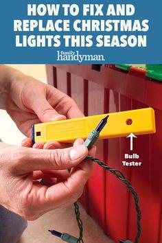 Fix Christmas Lights, Christmas Light Tester, Christmas Hacks, Holiday Lights, 1st Christmas, Online Buying, Project Steps, Light Emitting Diode, Traditional Lighting