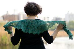 Mireio shawl by Anna Sudo. One skein of Mountain Colors Winter Lace Junior.
