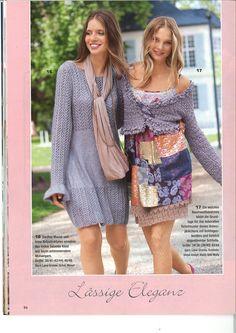 """Casual elegance"" - Odd Molly patchwork silk dress in Sabrina Switzerland, February 2011"