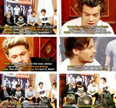 The boys trying to describe the last 3 years of their lives using only 1D song titles. Zayn tried xD