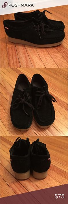 Clarks wallabee Clarks wallabee shoes. Black, women's size 9. Brand new, never worn. Clarks Shoes Flats & Loafers