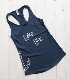 Items similar to Lake Life Tank Funny Shirts Women, Funny Tank Tops, Lake Life, Cut Shirts, Personalized T Shirts, Athletic Tank Tops, Shirt Designs, Shirt Ideas, My Style