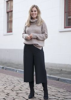 Wearing culottes in winter | Style by Jules
