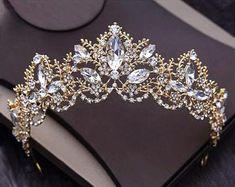Cute Jewelry, Hair Jewelry, Bridal Jewelry, Bridesmaid Hair Accessories, Wedding Accessories, Bridesmaid Dresses, Bride Tiara, Crystal Crown, Rhinestone Wedding