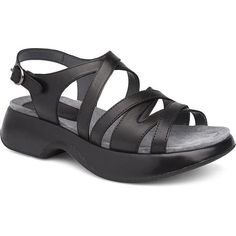 Casual And Strappy Lolita Is Sure To Be A Favorite. Leather Uppers And Soft Leather Linings Give All Day ComfortMolded Pu Footbed With Memory Foam For CushioningPu Outsole With Stained Sidewall HeelSku: Dansko Shoes, Memory Foam, Soft Leather, Ladies Sandals, Lady, Casual, Fashion, Moda, Fashion Styles