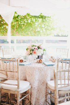 Lace table cloth... so lovely!