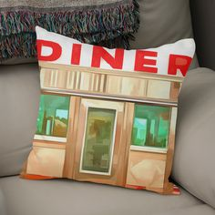 Discover «Classic American Diner», Numbered Edition Throw Pillow by Edward Fielding - From $27 - Curioos
