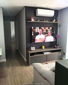 Que cozinha inspiradora 😍 Pequena, prática e funcional! ⠀⠀⠀⠀⠀⠀⠀⠀⠀⠀⠀⠀⠀⠀⠀⠀⠀⠀⠀⠀⠀⠀⠀⠀⠀⠀ 🛍 Participe da nossa lista VIP do WhatsApp, assista os… Small Apartment Living, Small Apartment Decorating, Living Room Tv, Living Room Remodel, Small Living Rooms, Small Apartments, Living Room Designs, Deco Tv, Apartment Interior