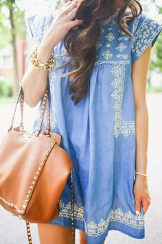 baby doll denim dress