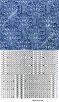 Knitting Patterns Stitches Beautiful patterns with knitting needles. Discussion on LiveInternet – Russia …This post was discovered by Pınar DOĞAN. Discover (and save!) your own Posts on Unirazi. Lace Knitting Stitches, Lace Knitting Patterns, Knitting Charts, Lace Patterns, Loom Knitting, Knitting Designs, Hand Knitting, Stitch Patterns, Knitting Needles