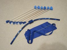 Archery kids toy set in many colors with 6 arrows by PlaySafeToys