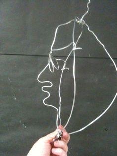 Calder wire portraits lesson