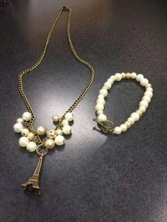Check out this item in my Etsy shop https://www.etsy.com/listing/268571800/paris-is-love-jewelry-set-necklace-and