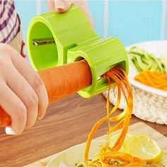 1 Pc 2 In 1 Vegetable Grater With Knife Sharpener Spiral Carrot Slicer Stainless Steel +Plastic - PINkart. Cool Kitchen Gadgets, Kitchen Tools, Cool Kitchens, Kitchen Appliances, Cooking Utensils, Cooking Tools, Grater, Knife Sharpening, Customized Gifts