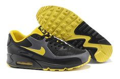 timeless design 7c3d3 020ed 2013 Nike Air Max 90 Sports Shoes for Men Black Yellow Online