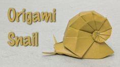 Origami Tutorial: Snail (Shiri Daniel): Paper used in this video: square with a side length of 24 cm (9 1/2 in) kami Finished model: 8 cm (3 1/6 in) long 5.5 cm (2 1/8) high 3.5 cm (1 3/8 in) deep This video describes how to fold a fantastic 3-dimensional origami snail designed by Shiri Daniel. Shiri kindly gave me permission to make this video accessible to you. Diagrams are available at http://ift.tt/2vnXeIp More info: http://ift.tt/2v4KHP6 Playlist of origami animal tutorials…