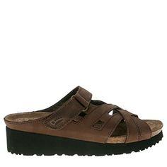Spring Step Women's Sabra Wedge Sandals (Brown)