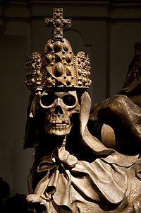 "Kapuzinergruft, ""Capuchins' Crypt"" in Vienna Austria. The Imperial Crypt lies… Memento Mori, Statues, Skull Reference, Holy Roman Empire, Cemetery Art, Vanitas, Skull Art, Skull Decor, Sculpture"