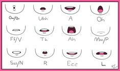 mouth animation chart th Cartoon Mouths, Drawing Cartoon Faces, Cartoon Art, Male Character, Fantasy Character, Character Sketches, Character Illustration, Mouth Drawing, Drawing Base