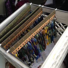 GENIUS Floss Storage Idea!! Cross Stitch