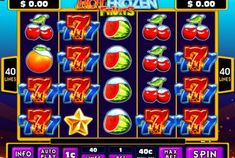 PLAY WITH $50 FREE!  Hot Frozen Fruits is a video slot machine game which is available to play over at Cleo's VIP Room.