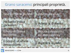 Grano saraceno: proprietà e valori nutrizionali. Niente glutine e basso indice glicemico