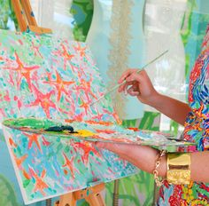 Lilly Pulitzer Hand Painted Prints