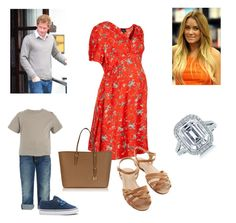 """Duke and Duchess 8 Months Pregnant with Prince John out shopping by Highgrove"" by royal-fashion ❤ liked on Polyvore featuring Topshop, Bass, Lauren Conrad, Burberry, Michael Kors and Tiffany & Co."