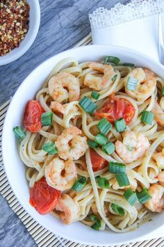 Quick and Easy Meal Idea: Shrimp Scampi Fish Recipes, Baby Food Recipes, Food Network Recipes, Seafood Recipes, Healthy Recipes, Easy Weeknight Meals, Easy Meals, Easy Shrimp Scampi, Scampi Recipe