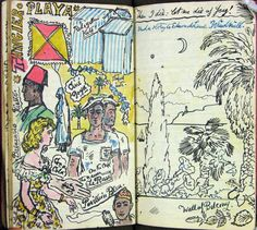 illustrated diary by Stephen Tennant, records a holiday in Gibraltar, Morocco and Tangier in 1948