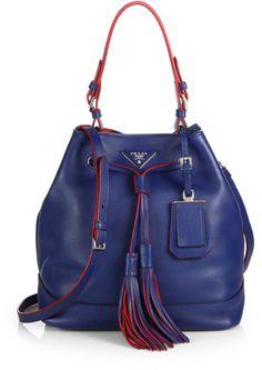 Love this: Prada Large Bucket Bag @Lyst ╭•⊰✿ © Ʀσxʌиʌ Ƭʌиʌ ✿⊱•╮