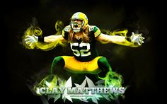 Green Bay Packers Super Bowl XLV Champion linebacker Clay Matthews hand signed this predator photo in permanent silver ink. Comes with Clay Matthews Official COA & Hologram from Legends of the Field, the exclusive agent for Clay Matthews. Nfl Football, Best Football Team, American Football, Football Helmets, Football Season, Football Tournament, Football Players, Green Bay Packers Wallpaper, Clay Matthews Iii