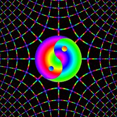 Trippy Yin Yang | This GIF has everything: psychedelic, colorful, YIN YANG!