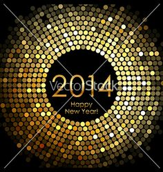 Happy new year 2014 vector - by YuliaGlam on VectorStock®