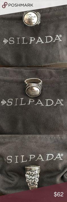 "Silpada ""Love Cherish Inspire Dream"" Ring Sz 8 Silpada ""Love Cherish Inspire Dream"" ring beautiful ring  very gently pre-loved   sz 8 Silpada Jewelry Rings"