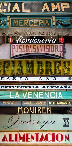 Madrid vintage signs.