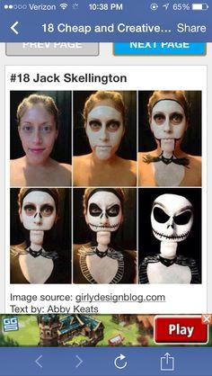 Halloween Makeup Tutorial - Jack Skeleton The Nightmare Before Christmas