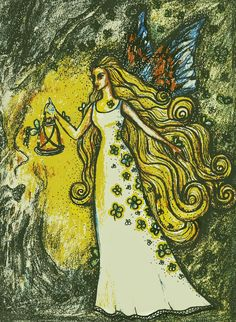 OONAGH - Irish goddess of nature, love and relationships. Oonagh reminds us that everything is happening in divine timing, easy does it! Irish Mythology, Greek Mythology Art, Wiccan Art, Pagan, Ancient Myths, Greek Gods And Goddesses, Legends And Myths, Type Illustration, Irish Celtic