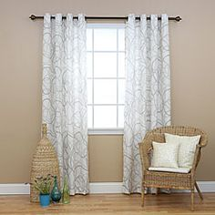 @Overstock.com - Tribal Print Faux Linen Grommet 84inch Curtain Pair - This grommet curtain pair feature a simple and modern tribal print that adds a fresh and contemporary look to any room. These curtains allow natural light to flow through the room while providing privacy.  http://www.overstock.com/Home-Garden/Tribal-Print-Faux-Linen-Grommet-84inch-Curtain-Pair/6788146/product.html?CID=214117 $60.29