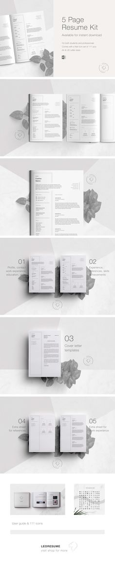 Items similar to Resume for Word Template Cv, Cover Letter Template, Resume Templates, Curriculum Vitae, Experience, Job, Social Media Icons, User Guide, Creative Resume