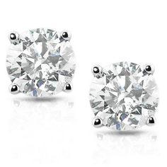 Diamond Studs 1.50CT VVS (Not Enhanced) 14K White Gold Round Brilliant Cut Size 4-9 on Etsy, $2,499.99