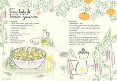 Reina Palta, una compilación de más de cuarenta recetas y consejos saludables de la cocinera Antonia Cafati y la ilustradora Pati Aguilera.