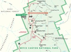 bryce canyon hiking map Google Search Travel Pinterest Bryce