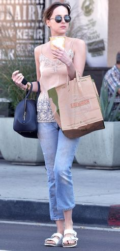 Dakota Johnson out & about in LA - 20 Oct 2015 Click on for more Candid photos lovefiftyshades.com | twitter | instagram | pinterest | youtube
