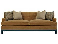 Shop for Bernhardt Interiors Piper Sofa, N2197, and other Living Room Sofas Fabric Shown: 1870-052. Contrasting Fabric: 1881-051, 1879-020. Between Arms: 76-1/2''. Finish: #751 Mocha Finish only. Pillows: (4) Feather Down Throw Pillows, Knife Edge with welt, 20'' x 20''.