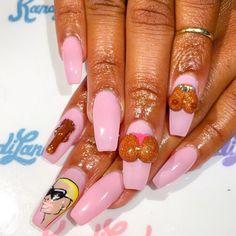 Amber Rose ✨IG:@kandiyamz ---------------------------------------------------------- #nails #nail #amberrose #style #hudabeauty #cute #beauty #beautiful #instagood #pretty #girl #girls #stylish #sparkles #styles #gliter #nailart #opi  #essie #unhas #preto #branco #rosa #love #shiny #polish #nailpolish #nailswag #anastasiabeverlyhills #vegas_nay